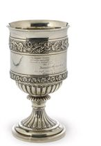 A GEORGE III PROVINCIAL SILVER GOBLET