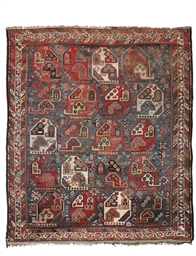 A large antique Neriz rug and