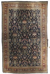An antique Mahal carpet