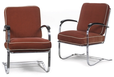 A PAIR OF AMERICAN ART DECO BE
