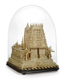 AN INDIAN CARVED BALSA WOOD MO