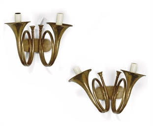 A PAIR OF ITALIAN LACQUERED BR
