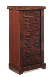 A LATE VICTORIAN MAHOGANY WELL