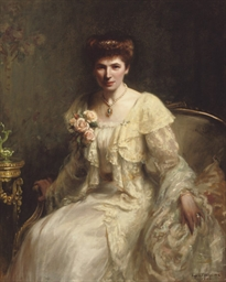 Portrait of Mrs Haslam, seated