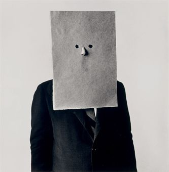 Saul Steinberg in Nose Mask, New York, September 30 1966