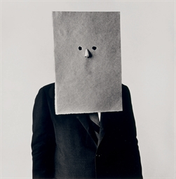 Saul Steinberg in Nose Mask, N