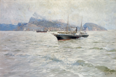 A steamboat on the Black Sea