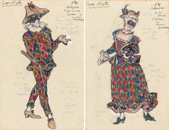 Two costume designs for 'The N