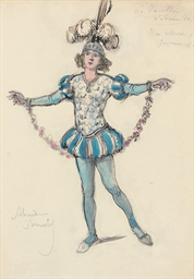 Costume design for 'Le Pavillo