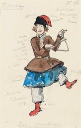 Costume design for 'Petrouchka