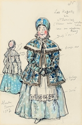 Costume design for 'Petrouchka