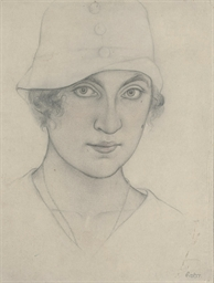 Woman in a cloche hat