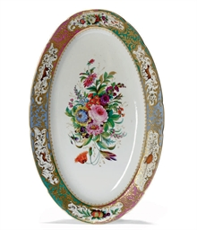 AN OVAL PORCELAIN DISH FROM TH