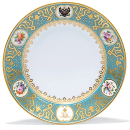 A PORCELAIN PLATE FROM THE DOW