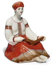 A SOVIET PORCELAIN FIGURE OF A