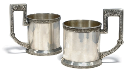 A PAIR OF RUSSIAN SILVER LEMON