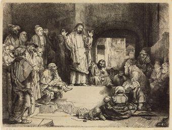 Christ preaching: 'La Petite Tombe' (B., Holl. 67; H. 256)