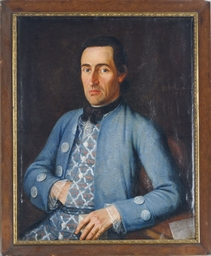 Portrait of a man in a blue co
