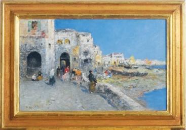 Mediterranean town view