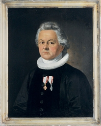 Portrait of a man, three-quart