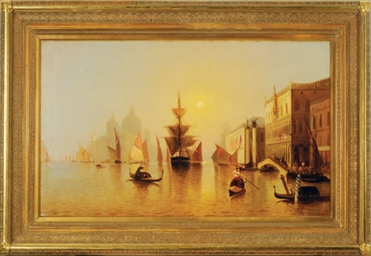 Venetian Canal Scene with the