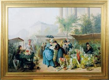 Flower market by the Madeleine