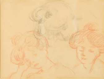 Study of the head of a woman