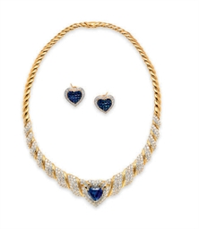 A SUITE OF SAPPHIRE, DIAMOND A
