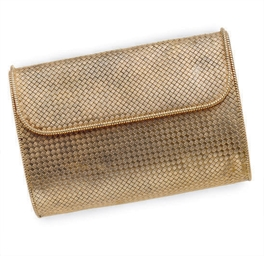 A 14K GOLD EVENING BAG