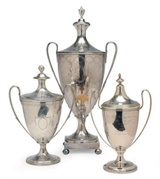 TWO ENGLISH SILVER FOOTED CUPS