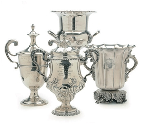 A GROUP OF SIX SILVER AND SILV