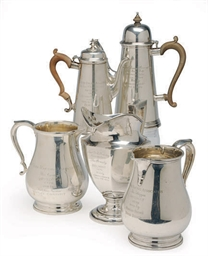 A GROUP OF SILVER DRINKWARE RA