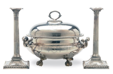 A GEORGE III SILVER VEGETABLE