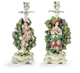 A PAIR OF ENGLISH BOCAGE FIGUR