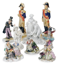 NINE VARIOUS GERMAN PORCELAIN