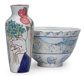 A GROUP OF FAIENCE TABLE WARES