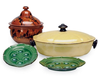 A GROUP OF FRENCH EARTHENWARE