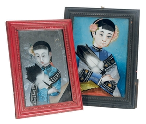 A GROUP OF FIVE FRAMED CHINESE