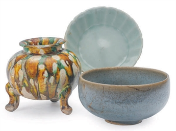 THREE CHINESE GLAZED VESSELS,