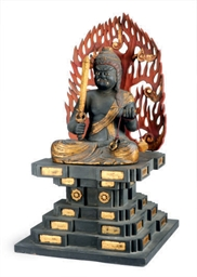 A JAPANESE WOOD FIGURE OF THE