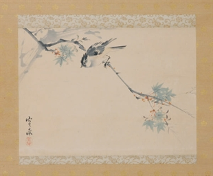 A JAPANESE HANGING SCROLL OF A