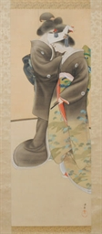 A JAPANESE HANGING SCROLL DEPI