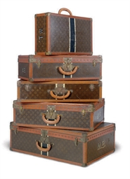 A SET OF FIVE LOUIS VUITTON HARDCASE LUGGAGE,