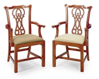 A SET OF SIX MAPLE ARMCHAIRS,