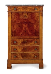 A FRENCH WALNUT SECRETAIRE A A