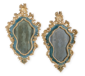 A PAIR OF ITALIAN FAUX MARBLE