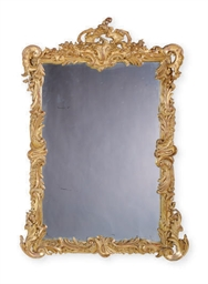 A FRENCH GILT-COMPOSITION MIRR