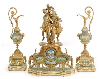 A FRENCH GILT-PATINATED SPELTE