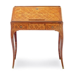 A FRENCH KINGWOOD PARQUETRY BU