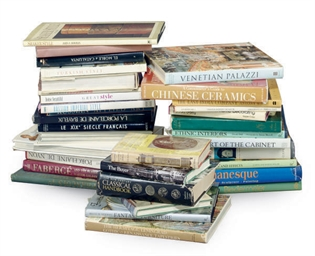 A GROUP OF BOOKS ON THE DECORA